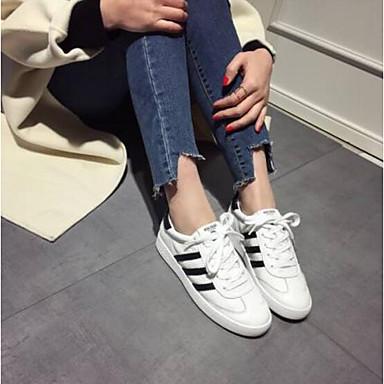 fermé Printemps Chaussures 06770551 Talon Plat Femme Nappa Noir Basket Bout Blanc Confort Cuir été vwxOqtSTqd
