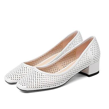 06770035 Bottier Chaussures Blanc Talon Talons Escarpin à Femme Noir carré Basique de Peau Eté Chaussures mouton Bout adPFwq