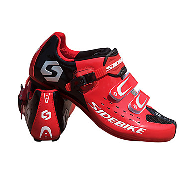 رخيصةأون أحذية ركوب الدراجة-SIDEBIKE للبالغين أحذية لركوب الدرجات مزودة ببدال وماسك Mountain Bike Shoes نايلون توسيد ركوب الدراجة أحمر رجالي أحذية الدراجة / ستوكات صناعية PU
