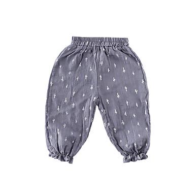 Bebelus Băieți Activ Alb negru Mată Plisată Manșon scurt In Pantaloni / Copil