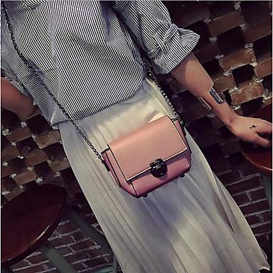 Pentru femei Genți PU Umăr Bag Fermoar Roșu-aprins / Roz Îmbujorat / Gri