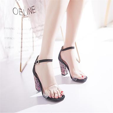 Bout Rose synthétique Sandales Escarpin Matière ouvert Chaussures Printemps été Bottier 06734811 Talon Rouge Femme Vert Basique xEqw6vRnUp