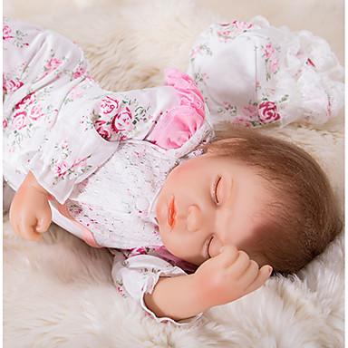 OtardDolls Păpuși Renăscute Bebe Fetiță 20 inch Silicon - natural, Mâini aplicate manual Lui Kid Fete Cadou