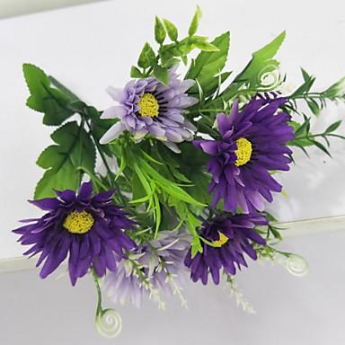 Flori artificiale ramură Clasic Pastoral Stil Margarete Față de masă flori