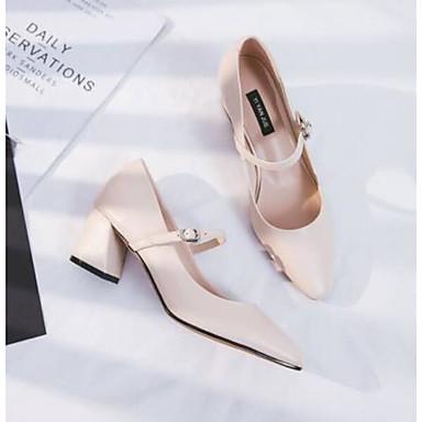Chaussures Bottier à Cuir Femme Chair pointu Bout Bleu Confort Eté Chaussures Gris 06766432 Nappa Talons Talon qzgXS