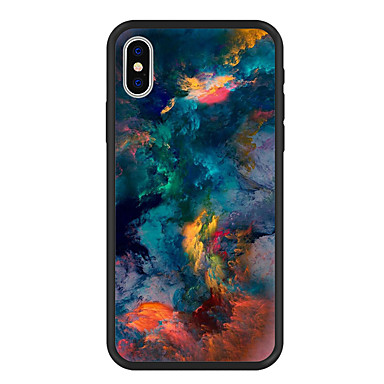 Etui Til Apple iPhone X / iPhone 8 Plus Mønster Bagcover Landskab Hårdt Akryl for iPhone X / iPhone 8 Plus / iPhone 8