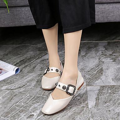PU Beige Tacón Zapatos 06781861 Bailarinas Mujer Rojo cuadrada Dedo Plano Confort Amarillo Verano 5zpOR4aq
