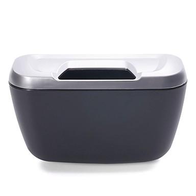 voordelige Auto-interieur accessoires-ziqiao voertuig auto auto vuilnis afval kan stof vuilnisbak opbergdoos container - zilver