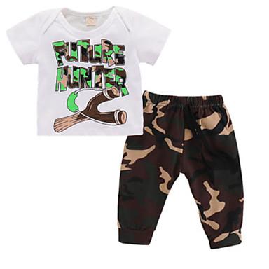 Dijete Dječaci Aktivan Izlasci Print Kratkih rukava Kratka Kratak Pamuk Komplet odjeće / Dijete koje je tek prohodalo