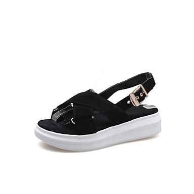 été Femme Plat Sandales Confort Chaussures Vert de mouton Rose Noir Peau 06797321 Talon Printemps qXrRqw