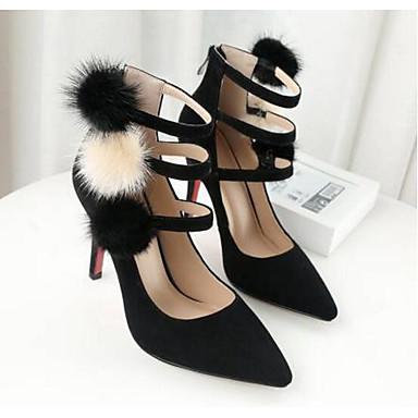 Aiguille Escarpin mouton Chaussures Vert Talon Femme Confort Chaussures Peau Basique Automne Printemps 06795175 de Noir à Talons w0qOqxH