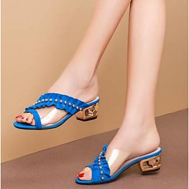 Bottier Noir Peau Eté Confort Chaussures Bleu Talon Sandales 06781836 Femme mouton de zx85wU4qx