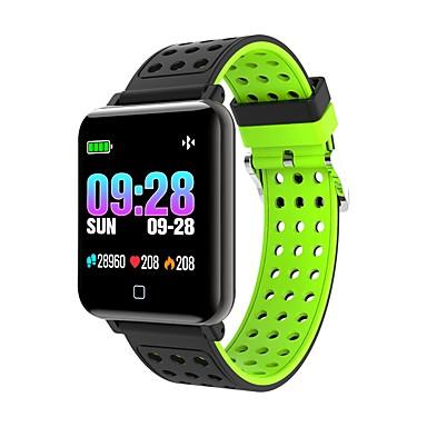 billige Smarte aktivitetsmålere, klips og armbånd-smartwatch m19 kvinner menn hjertefrekvens blodtrykk bluetooth vanntett sport smart armbånd for android ios