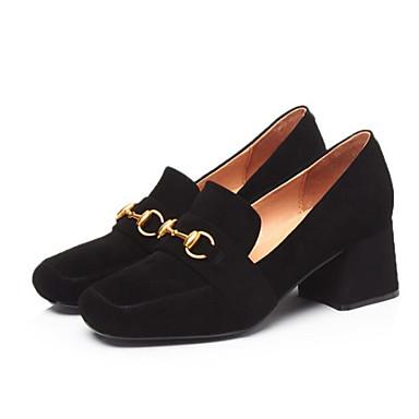 Chaussures Chaussons Peau et Brun Mocassins claire 06783161 Automne Noir de Talon Bottier D6148 Printemps Confort Femme mouton dFRUcS1FW