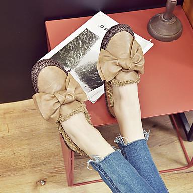 Plat Confort Kaki Talon D6148 Printemps Mocassins Noir Cuir Chaussures et Femme Bout Nappa Blanc rond Noeud été Rayé 06840022 Chaussons qPqApX