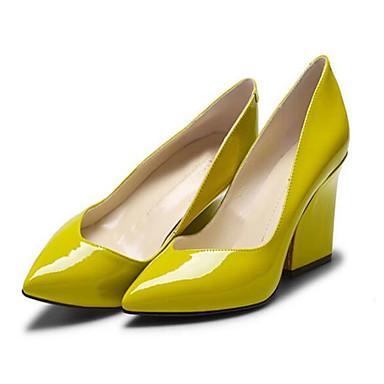 Verni Talons Talon Jaune Confort à Chaussures Femme Bleu 06816572 Cuir Bottier Chaussures Eté HwxgRxEaq