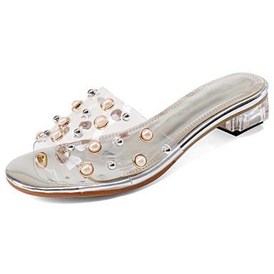 Gomme Eté 06827441 Sandales Escarpin Basique Femme Confort Bas Talon Chaussures Clair 6P5qwnO