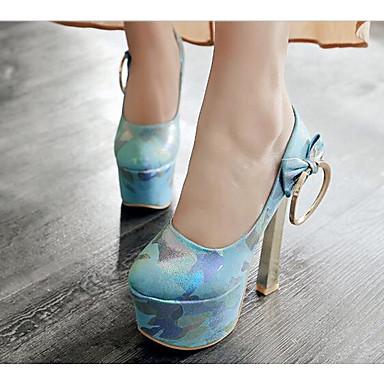 Žene Cipele PU Proljeće Udobne cipele / Obične salonke Cipele na petu Platformske cipele Obala / Plava / Pink