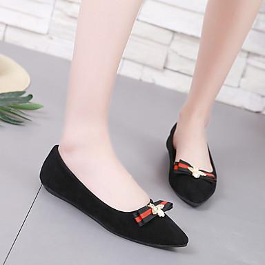 Confort Bailarinas Tacón verano Mujer Dedo Plano Primavera Negro 06778553 Puntiagudo PU Paseo Zapatos rxIqXIg
