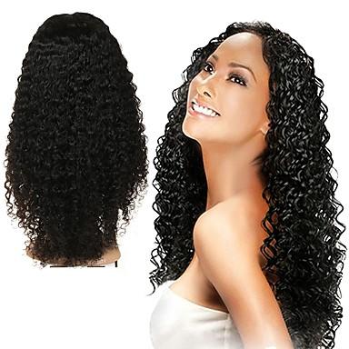 Human Hair Full Lace Wig Malaysian Hair Curly Wig Asymmetrical