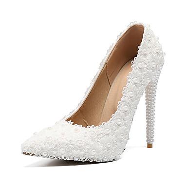 267cb7ec720 Γυναικεία Παπούτσια PU Φθινόπωρο & Χειμώνας Βασική Γόβα Γαμήλια παπούτσια  Τακούνι Στιλέτο Μυτερή Μύτη Πέρλες /
