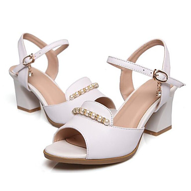 Confort Escarpin Cuir Femme 06831319 Blanc Chaussures Eté Noir Sandales Nappa Basique Talon Bottier x5XITXq