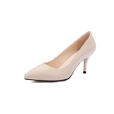 Aiguille Chaussures Basique 06834853 Nappa Noir Femme Beige Chaussures Talon Cuir Eté Talons Escarpin à Rouge Xq1fwYv