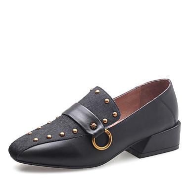 et Chaussures Crin Moccasin Bottier Femme Noir D6148 Mocassins de carré Cheval Marron Bout Eté 06776279 Talon Billes Chaussons Printemps RAdwHwq8