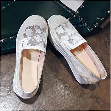 Chaussures Talon rond Blanc Chaussons 06795528 Femme Mocassins Nappa Bout Eté et D6148 Confort Rose Cuir Plat qnzSx4dH