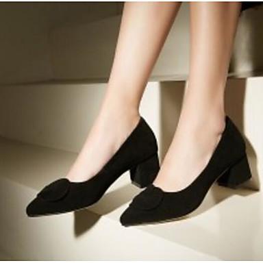 Noir Automne 06792608 à mouton Bourgogne Printemps de Confort Bottier Escarpin Chaussures Chaussures Talon Talons Peau Basique Femme HC6gUnTqx