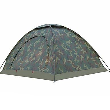 billige Telt og ly-2 personer Turtelt Utendørs Regn-sikker, UV-bestandig Med enkelt lag Stang camping Tent <1000 mm til Fisking Strand Camping / Vandring / Grotte Udforskning Nylon 200*150*110 cm