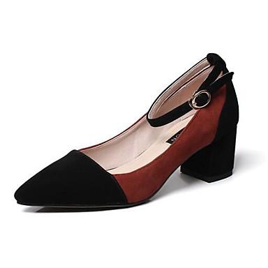 les confort chaussures en daim printemps confort les talons chunky talon Gris  / vin / kaki 3c461e