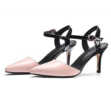 Blanc Talon Basique Escarpin Nappa Confort Rose Aiguille Cuir 06795899 Femme Sandales Chaussures Eté xHqwvYA8