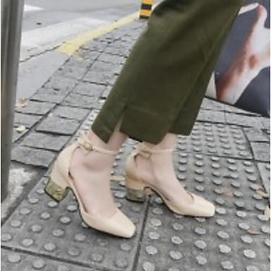 Automne Printemps Chaussures Marron Bottier Talons Talon 06791491 Amande Femme Cuir Noir Confort à Escarpin Chaussures Basique Hxw6Ft