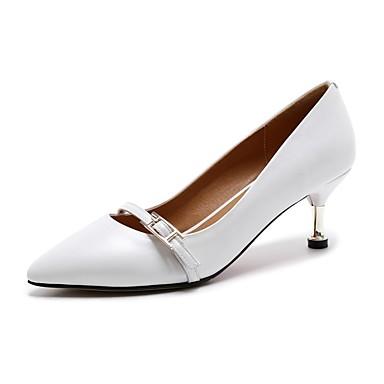 Talon Femme Aiguille été Chaussures Printemps Talons Noir Confort 06800072 Nappa à Cuir Blanc Chaussures gWqg4z