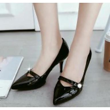 Escarpin Basique Talons Chaussures Verni Confort Talon Automne Cuir Chaussures Aiguille Printemps Femme à 06835484 Amande Noir gT0Ywn