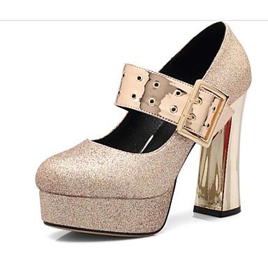06791944 Or Argent Microfibre Plateau Chaussures Chaussures Confort Femme à Printemps Talons Basique Automne Escarpin P4Taw