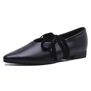 fermé Plat Chaussons D6148 Eté Printemps 06835456 Femme Talon Bout Confort et Mocassins Chaussures Noir Cuir Blanc Nappa w4qqxSOR