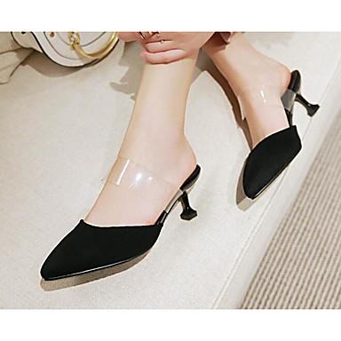Rouge Eté Chaussures 06778542 Polyuréthane Cône Noir Printemps amp; Confort Mules Talon Sabot Femme wSUZnW