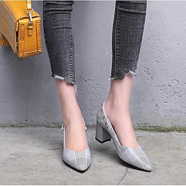 Chaussures Nappa 06777810 Chaussures Confort Talon Cuir à Femme Talons Printemps Bottier Gris Px6X1w