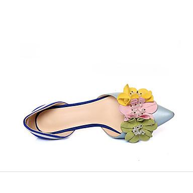 Talons Basique Chaussures Printemps Confort Femme Nappa Talon Escarpin Bleu Aiguille 06791339 Cuir Chaussures à wYIdqtxz