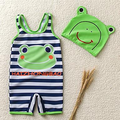 povoljno Kupaći za dječake-Djeca Dijete koje je tek prohodalo Dječaci Plaža Prugasti uzorak Poliester Kupaći kostim Djetelina
