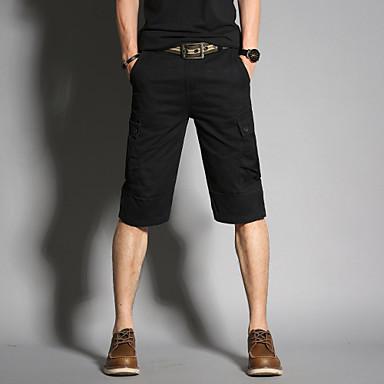 Muškarci Osnovni / Vojni Klasične hlače / Kratke hlače Hlače Jednobojni