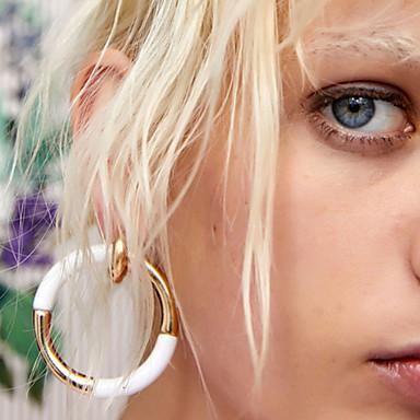 abordables Boucle d'Oreille-Femme Boucle d'Oreille Créoles Creux Donuts dames simple Géométrique Coréen Des boucles d'oreilles Bijoux Rouge / Bleu / Rose Pour Quotidien Ecole 1 paire