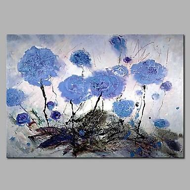 Hang oslikana uljanim bojama Ručno oslikana - Mrtva priroda / Cvjetni / Botanički Moderna Platno