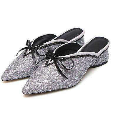 06832678 Noir Argent Confort été Bottier Matière Or Talon amp; Sabot synthétique Chaussures Mules Printemps Femme 7T6wqO