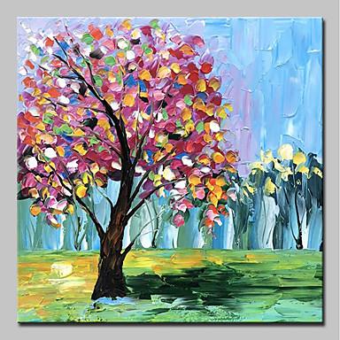 Hang oslikana uljanim bojama Ručno oslikana - Pejzaž / Cvjetni / Botanički Moderna Uključi Unutarnji okvir / Prošireni platno