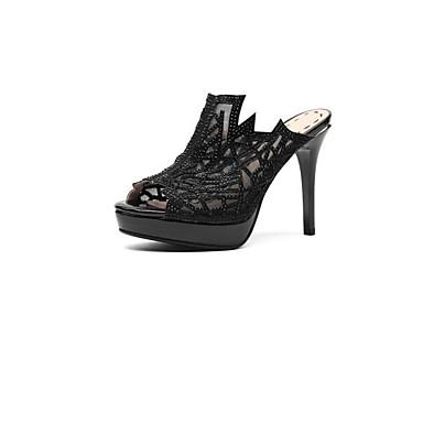 Chaussures Noir Talon Eté Amande Microfibre Aiguille Femme 06810760 Sandales Basique Confort Escarpin pqaAgdw6x