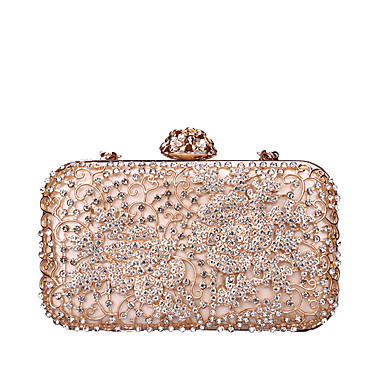 1d964abb7e86 Women s Bags PU(Polyurethane)   Alloy Evening Bag Crystals   Hollow-out  Black   Blushing Pink   Silver