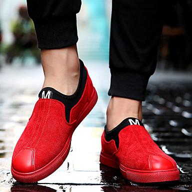 les hommes de satin confort noir et baskets rouges confort satin d'été 8c3fa3